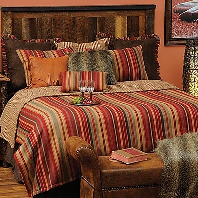 Wooded River Bandera 7 Piece Reversible Coverlet Set; Queen