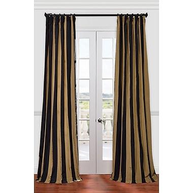 Half Price Drapes Regency Stripe Faux Silk Taffeta Single Curtain Panel; 50'' W x 120'' L