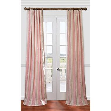 Astoria Grand Frankfort Stripe Faux Silk Taffeta Rod Pocket Single Curtain Panel; 50'' W x 108'' L