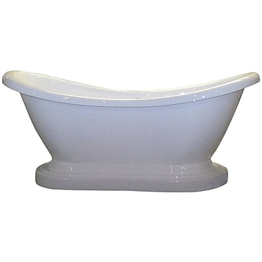 Cambridge Plumbing 68.63'' x 29'' Pedestal Slipper Bathtub; No