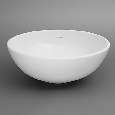 Ronbow Ceramic Circular Vessel Bathroom Sink