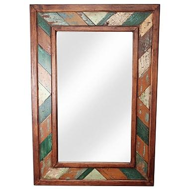 MyAmigosImports Folk Art Rustic Mirror