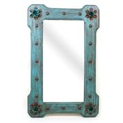 MyAmigosImports Large Bloom Rustic Mirror