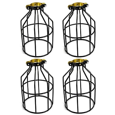 Newhouse Lighting Metal Lamp Guard 1-Light Kitchen Island Pendant (Set of 4)