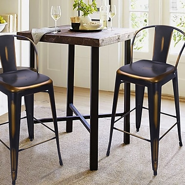 AdecoTrading 30'' Bar Stool (Set of 2); Copper