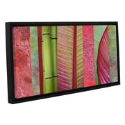 ArtWall 'Red Green' by Cora Niele Framed Graphic Art on Wrapped Canvas; 24'' H x 48'' W