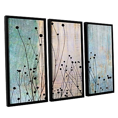 ArtWall 'Dark Silhouette II' by Cora Niele 3 Piece Framed Graphic Art on Canvas Set