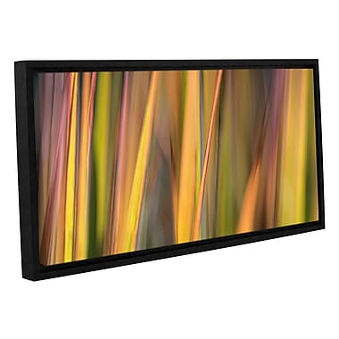 ArtWall 'Vivid Green' by Cora Niele Framed Photographic Print on Wrapped Canvas; 12'' H x 24'' W
