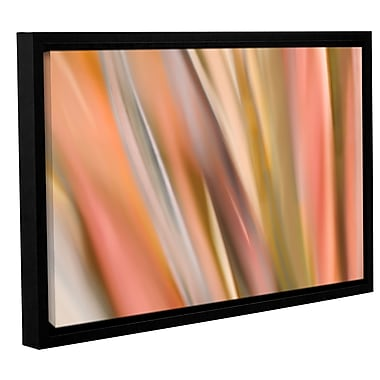 ArtWall 'Abstract Barcode' by Cora Niele Framed Graphic Art on Wrapped Canvas; 24'' H x 36'' W