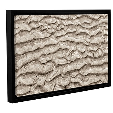 ArtWall 'Sand Patterns' by Cora Niele Framed Photographic Art on Wrapped Canvas; 16'' H x 24'' W