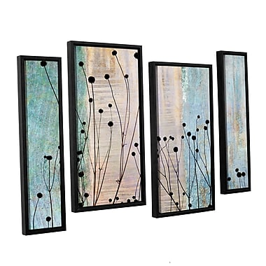ArtWall 'Dark Silhouette II' by Cora Niele 4 Piece Framed Graphic Art on Wrapped Canvas Set