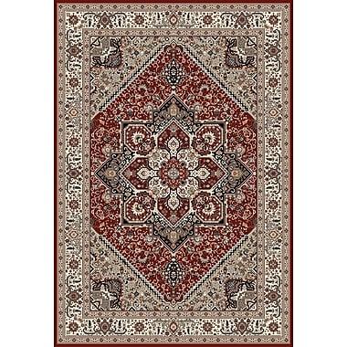 Art Carpet Dexter Red/Beige Area Rug; Runner 2'2'' x 8'2''