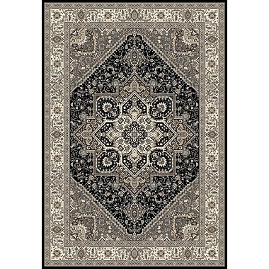 Art Carpet Dexter Black/Gray Area Rug; 5'3'' x 7'7''
