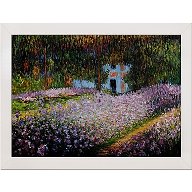 Tori Home Garden at Giverny by Claude Monet Framed painting