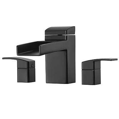 Pfister Kenzo Two Handle Deck Mount Roman Tub Faucet Trim; Black