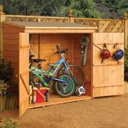 Rowlinson 6 ft. W x 2 ft. 6 in. D Wooden Vertical Bike Shed