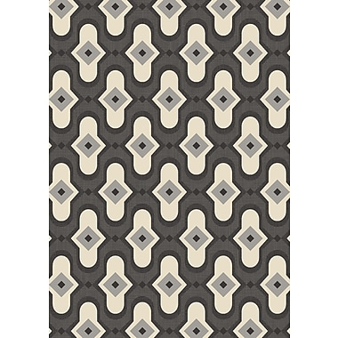 Art Carpet Dexter Gray/Cream Area Rug; Runner 2'2'' x 8'2''