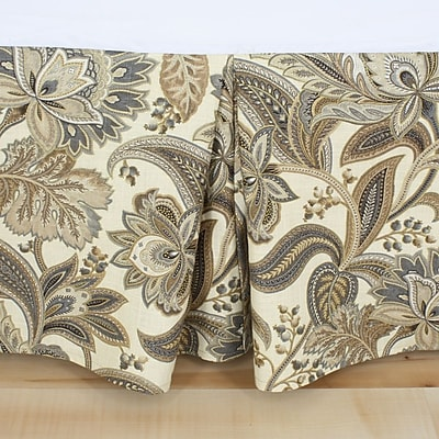 Brite Ideas Living Valdosta Driftwood Pleated Bed Skirt; Queen