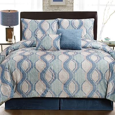 Luxury Home Cole 6 Piece Comforter Set; King