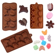 BargainRollback 3 Piece Non-Stick Spring Garden Tulip, Insects, and Leaves Silicone Mold Set