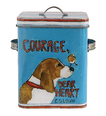Creative Co-Op Gallery Courage and Dog Container