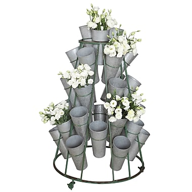 Creative Co-Op Garden Flower Tin Vertical Garden