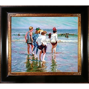 Tori Home Summer Day and Brighton Beach by Edward Henry Potthast Framed Painting