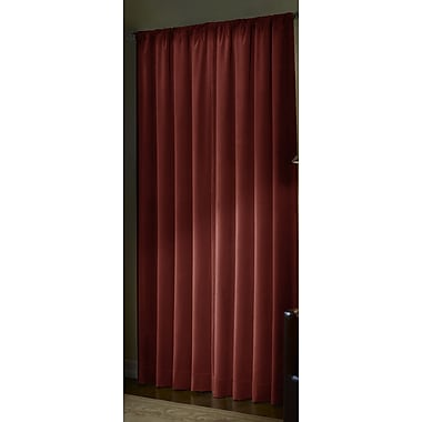 Maytex Serenity Microfiber Blackout Energy Single Curtain Panel; Red