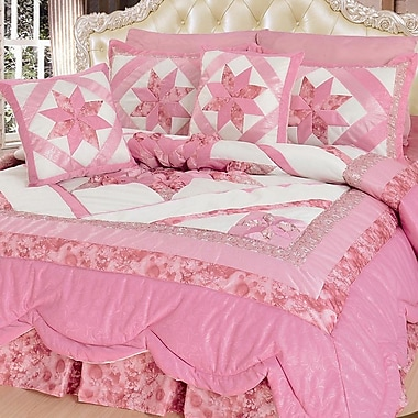 DaDa Bedding New Girly Girl 5 Piece Quilt Set; King