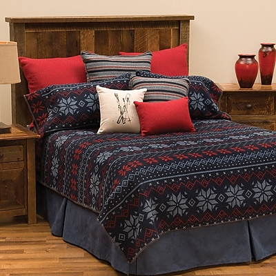 Wooded River Nordic Coverlet; Full / Queen