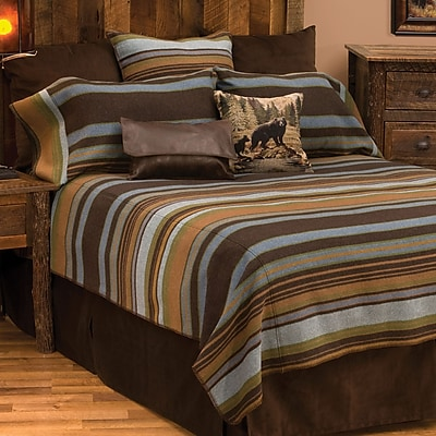 Wooded River Hudson Coverlet; Queen