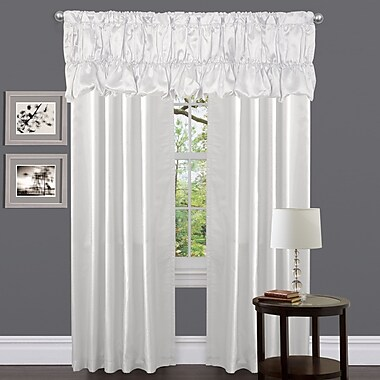 Lush Decor Venetian Solid Room Darkening Rod Pocket Single Curtain Panel