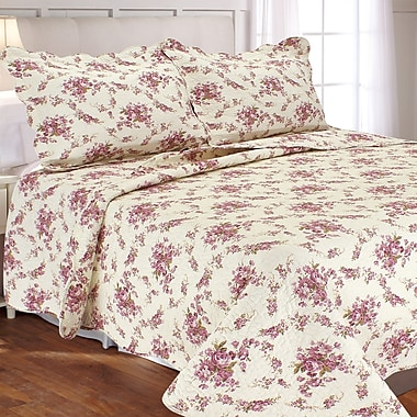 Textiles Plus Inc. Vintage Rosie 3 Piece Quilt Set; Twin