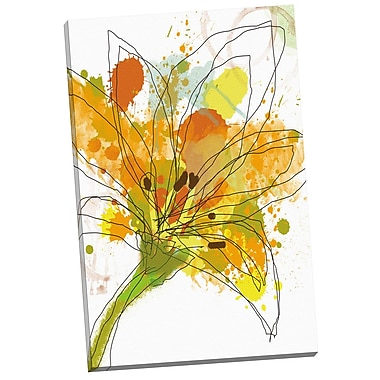 Portfolio Canvas Gold Blossom II by Jan Weiss Painting Print on Wrapped Canvas