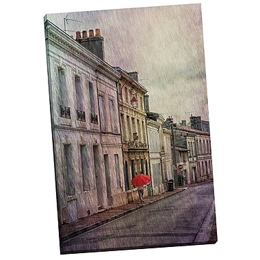 Portfolio Canvas Street w/ Rain by Marcus Phillip Painting Print on Wrapped Canvas