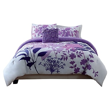Style 212 Lavender Shadow Comforter Set; King