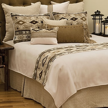 Wooded River Mountain Storm Coverlet; California King