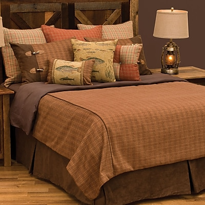 Wooded River Reel Time Deluxe 7 Piece Reversible Duvet Cover Set; King