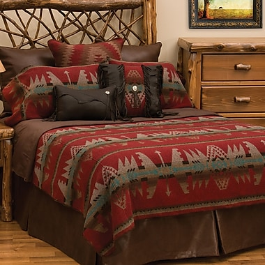 Wooded River Yellowstone II 7 Piece Coverlet Set; Queen