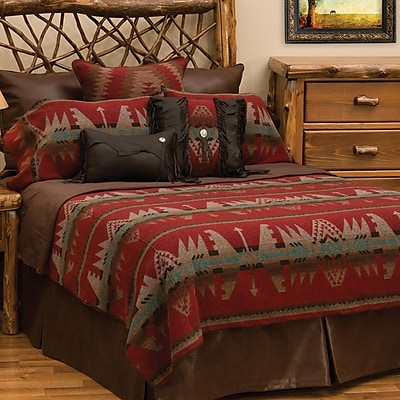 Wooded River Yellowstone II 7 Piece Coverlet Set; Super Queen