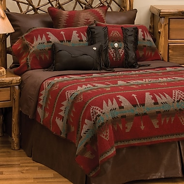 Wooded River Yellowstone II Coverlet; Super King