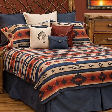 Wooded River Redrock Canyon 7 Piece Coverlet Set; Queen