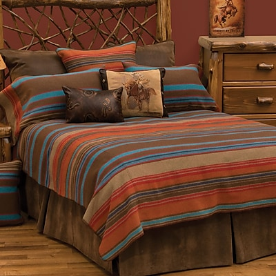 Wooded River Tombstone II Coverlet Set; Twin