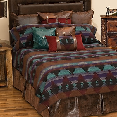 Wooded River Painted Desert II Coverlet; Super Queen