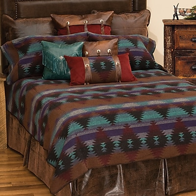 Wooded River Painted Desert II 7 Piece Coverlet Set; Full