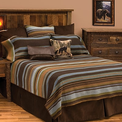 Wooded River Hudson Coverlet Set; Super Queen