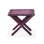 Glodea End Table; Purple Berry
