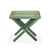 Glodea End Table; Alligator Green