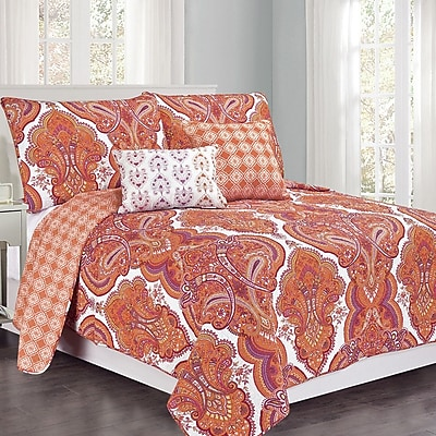 Design Studio Brilliance Paisley Quilt Set; Full / Queen