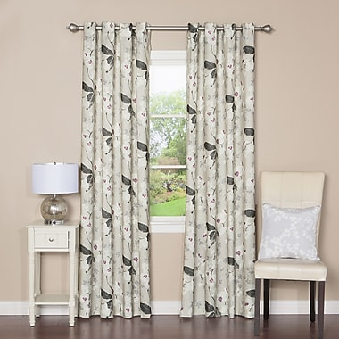 Best Home Fashion, Inc. Floral Orchid Print Grommet Top Curtain Panels (Set of 2)